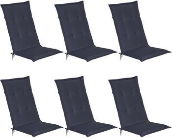 Beautissu Loft Hl 120x50 cm 6er-Set dunkelblau