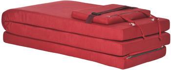 Beautissu LoftLux Dc 175x45 cm für Deckchair rot