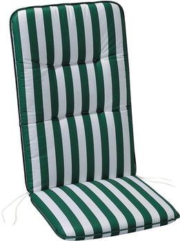 Best Klappsesselauflage Basic-Line 120 x 50 cm (0269) grün/weiß