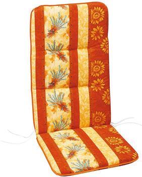 Best Klappsesselauflage Basic-Line 120 x 50 cm (0666) gelb/rot