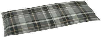 GO-DE Bankauflage 115 x 45 cm grau kariert