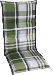 GO-DE Mittellehner-Auflage 50x110x7cm Karo grün/anthrazitbeige (20312-25)
