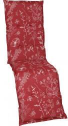 GO-DE Relax-Auflage 50x170x6cm rot Blumen/Stengel rot (19245-04)