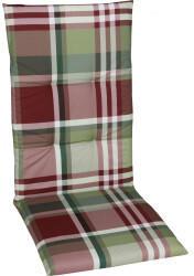 GO-DE Sessel-Auflage mittel 48x108x5cm rot karo rot (15810-25)