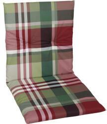 GO-DE Sesselauflage nieder 48x98x5cm rot karo rot (15810-02)