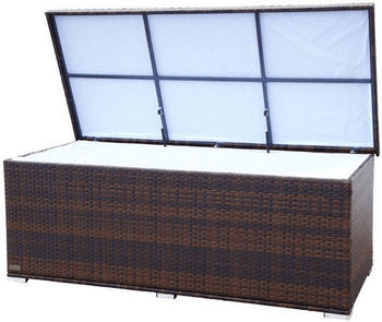 Outflexx Kissenbox 204 x 94 x 75 cm (Polyrattan) braun mormoriert