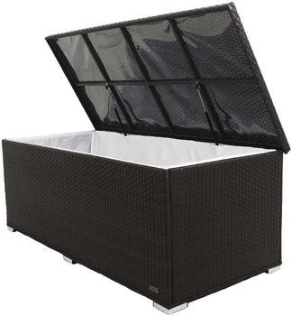 Outflexx Kissenbox 204 x 94 x 75 cm (Polyrattan) braun