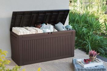 Koll Living Auflagenbox 270 Liter braun