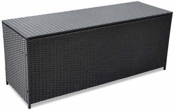 vidaXL Box Poly Rattan schwarz 150x50x60 cm (43134)