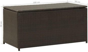 vidaXL Gartenbox 100×50×50cm Braun