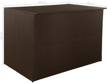 vidaXL Gartenbox 150×100×100cm Braun