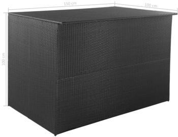 VidaXL Gartenbox 150×100×100cm Schwarz