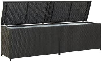 vidaXL Gartenbox 200×50×60cm Schwarz