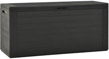 vidaXL Garden Storage Box 116 x 44 x 55 cm Anthracite