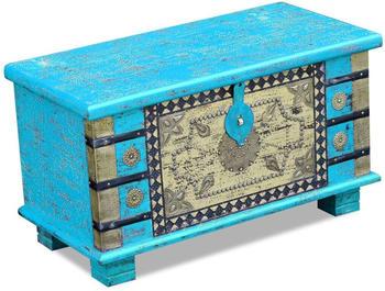 vidaXL Aufbewahrungstruhe 80x40x45cm Mangoholz blau