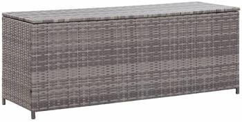 vidaXL Gartenbox Poly Rattan 150x50x60 cm grau