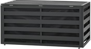 vidaXL Gartenbox Aluminium 100x50x50 cm Anthrazit