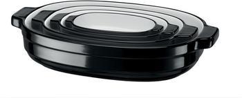 KitchenAid Auflaufformen oval schwarz 4-teilig