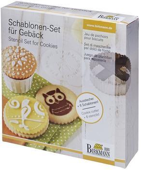 Birkmann Schablonen-Set für Gebäck 7-teilig