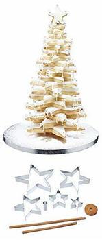 Kitchen Craft 3D-Ausstechformen-Set Weihnachtsbaum 9-teilig