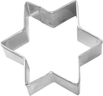 Birkmann Ausstecher Stern Weißblech 8 cm