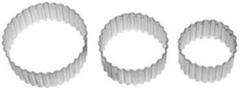 Birkmann Ausstecher Kreis gerippt Edelstahl 3 tlg. 4-6 cm