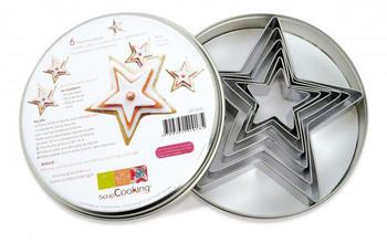 ScrapCooking Cookie Cutter Set x6 Stars