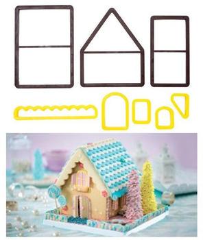 Decora Ausstechformen Märchen House, gelb, Set von 8