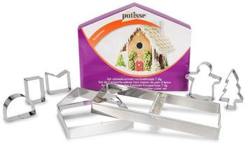 Patisse 2028 Ausstechformen-Set für Kunusperhaus/Lebkuchenhaus 7 teilig