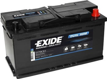 Exide 12V 92Ah EP800
