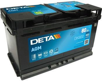 DETA DK800 AGM 12V 80Ah