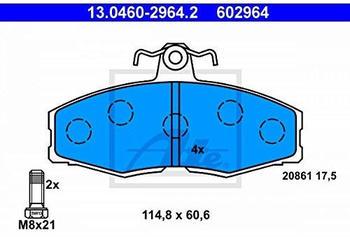 ATE 13.0460-2964.2 Bremsbelagsatz, Scheibenbremse