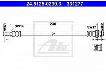 ATE 24.5125-0230.3 Bremsschlauch