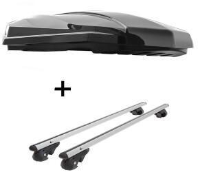 VDP STRIKE schwarz hochglanz + Relingträger VDP004 XL kompatibel mit Toyota RAV 4 ab 2013