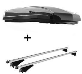 VDP STRIKE schwarz hochglanz + Relingträger Tiger XL kompatibel mit BMW X1 F48 ab 2015