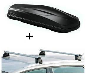 VDP CUBE470 + Relingträger CRV120A kompatibel mit Volkswagen Caddy 3-ab 03