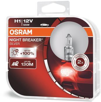 Osram Night Breaker Silver H1 Duo-Pack (64150NBS-HCB)