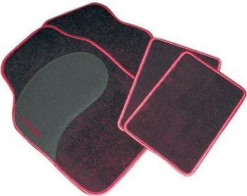 EAL Fußmatten-Set Diamant schwarz/rot