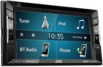 JVC KW-V240BT 2-DIN Autoradio mit CD/DVD/MP3-Autoradio mit Touchscreen/Bluetooth/USB/iPod/AUX