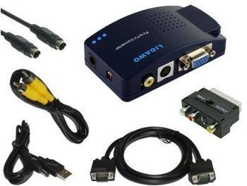 Ligawo 6518814 Pc Tv Konverter + Scart Adapter + AV Kabel