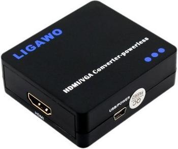 Ligawo 6518830 HDMI zu VGA Konverter 1:1 powerless