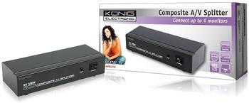 König KN-AVSPLIT10 4 Port Composite + Audio Splitter