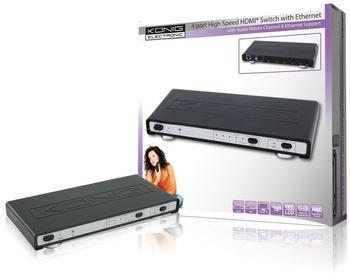 König KN-HDMISW25 4Port High-Speed HDMI Switch mit Ethernet
