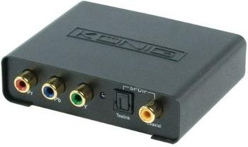König KN-HDMICON10 Konverter Component + Digital-Audio auf HDMI
