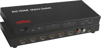 Roline 14.01.3566 HDMI Matrix Switch 4 x 2