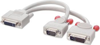 Lindy 41008 DVI-I -> DVI-D + VGA Splitter