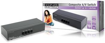 König KN-AVSWITCH10 Composite Audio Switch 4:1