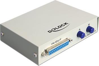 DeLock 87618 Parallel Umschalter Sub-D 25 Pin 2-Port manuell