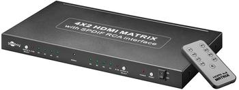Goobay 90655 AVS 45 Ultra HDMI Matrix 4 x 2