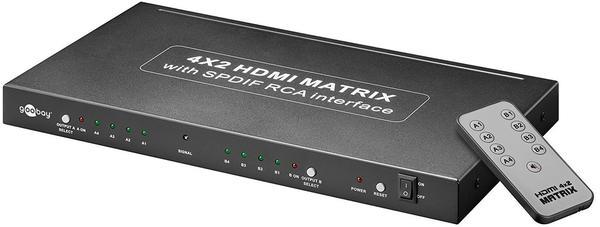 Goobay 90655 AVS 45 Ultra HDMI Matrix 4 x 2